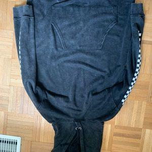 checkered hoodie dress